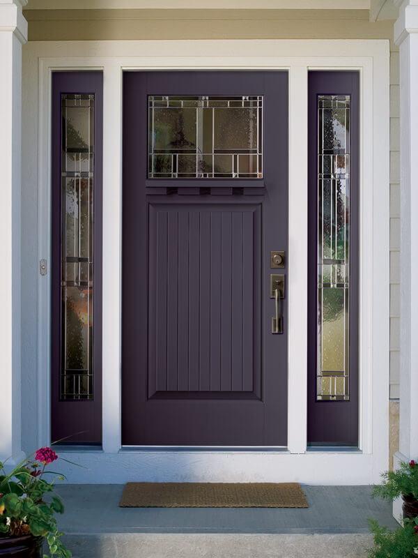 Exterior doors morse lumber for Best paint for fiberglass door